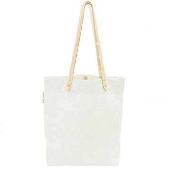 alvaGold Luna Recyclingtasche  aus wiederverwendetem Markisentuch/Leder (weiß)
