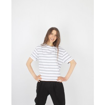 ZITAT Shirt Anastasia Grey Striped