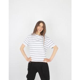 ZITAT Shirt Anastasia Grey Striped