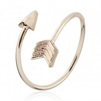 Anoa Ring 'Pfeil' rossvergoldet