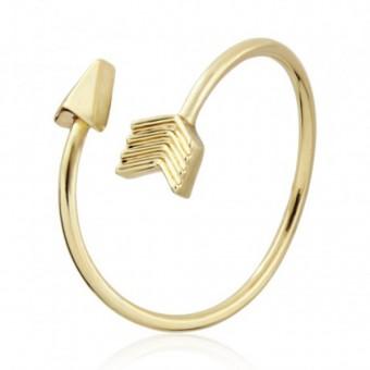 Anoa Ring 'Pfeil' vergoldet