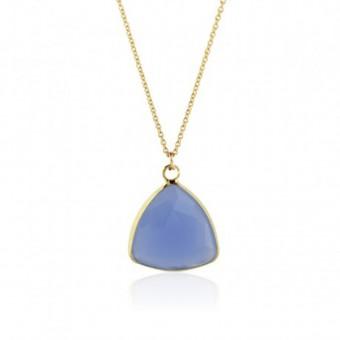 Anoa Kette 'Dreieck mit Farbe' hellblau