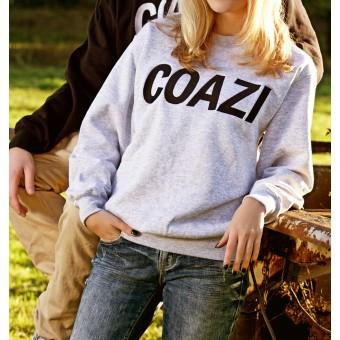 Coazi Label Sweater Grey Female