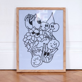 Apfel & Zwiebel – Happy Vegetables Poster (30 x 40 cm)