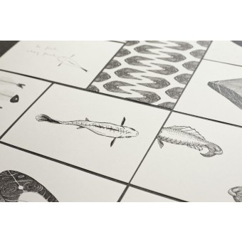 thethe eleven fishy cards Postkarten-Set (11 Stück)