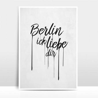 """Amy & Kurt Berlin A3 Artprint """"Berlin ick liebe dir"""""""