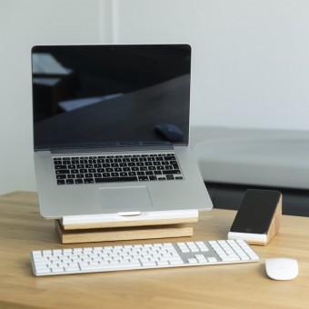 Büro Set stando cela 5 | Desk Organizer plus Handy Halter | Ordnung im Büro | Holzbutiq