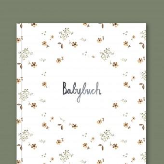 Babybuch - Babytagebuch Blumen