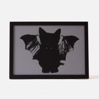 Bon Matin Siebdruck BatCat