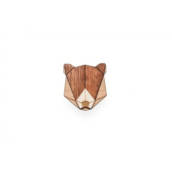 Bear Brooch von BeWooden