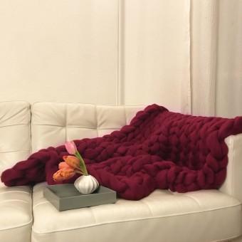 adorist. – Wolldecke Cosima Chunky Knit, berry