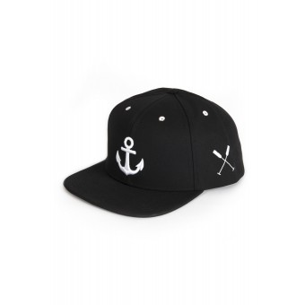 """HOME IS WHERE YOUR HEART IS. – Anker Snapback Cap """"Wonderland"""" (black)"""