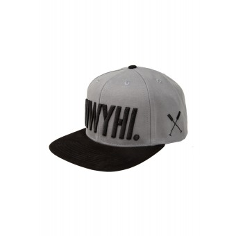 "HOME IS WHERE YOUR HEART IS. – Logo Snapback Cap ""HIWYHI."" (GREY/BLACK)"
