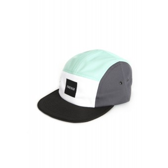 "HOME IS WHERE YOUR HEART IS. – Hipster 5-Panel Cap ""Tricolor"" (grey/ocean/white)"