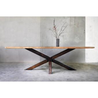 Bauholz Tisch Erika 280x100 cm Rostbeschichtung