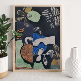 formwiese - »Neuanfang« (A3 Poster, Graspapier, abstrakt)