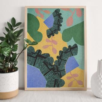 formwiese - »Morgentau« (A3 Poster, Graspapier, abstrakt)