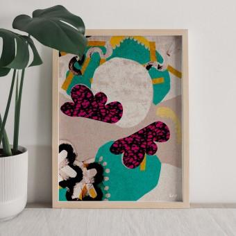 formwiese - »Wolkenwiese« (A3 Poster, Graspapier, abstrakt)