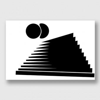 "ZEITLOOPS ""black & forms 03"", Posterprint"