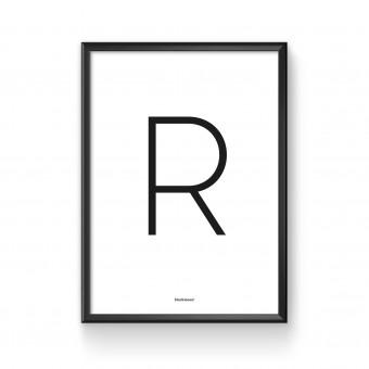 blackmoon Letterprint Serie Sans-Serif DIN A4, schwarz-weiß