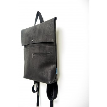 ein garten – corkskin backpack myrto all black