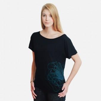 Bon Matin Fashion Top Oktopus (blaugrün)