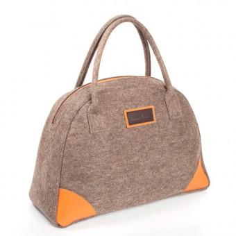 Bowling Princess - Handtasche (Filz und Leder)