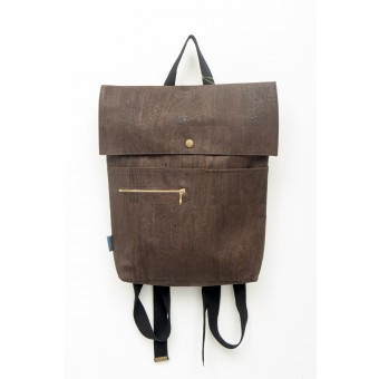 ein garten – corkskin backpack myrto chocolate brown