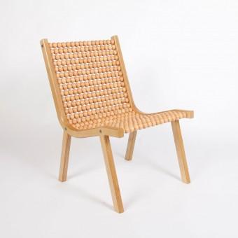 "Atelier Fesseler o432 lounge chair ""Buche Holzkugeln"""