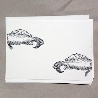 thethe KOPFLOS FISH Postkarte