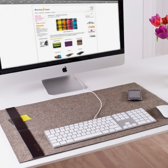 Desk-Pad Schreibtischunterlage Classic (Filz) - Burning Love