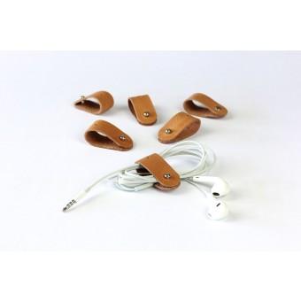 Alexej Nagel Kabel Organizer Set für deinen Alltag | Kabelbinder aus vinage Leder | [V]