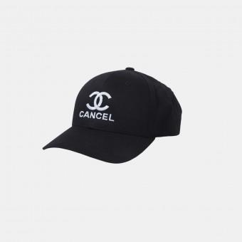 "hinzkunst Curved Classic Snapback ""Cancel"" schwarz"
