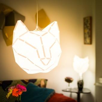Cat Large - Do It Yourself Papierlampenschirm