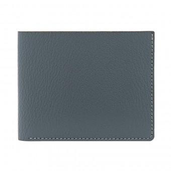 Faltbare Geldbörse in grau - aus premium pflanzlich gegerbtem Ziegenleder