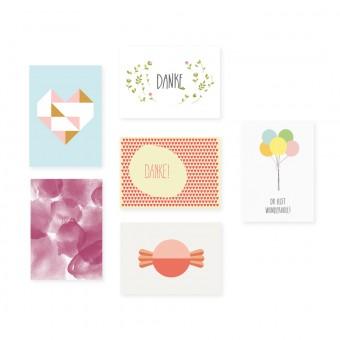 "Edith schmuckes Papier ""Dankeschön - Postkarten Set"""