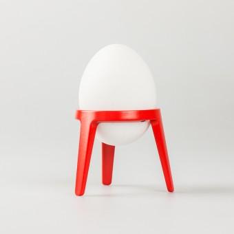 rocket - Design Eierbecher aus Metall (4er Set rot)