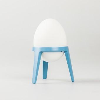 rocket - Design Eierbecher aus Metall (4er Set taubenblau)