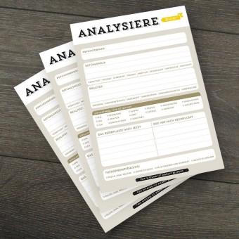 Design Verlag Notizblock – Analysiere dich! (3er-Set)