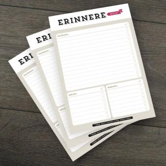 Design Verlag Notizblock – Erinnere Dich! (3er-Set)