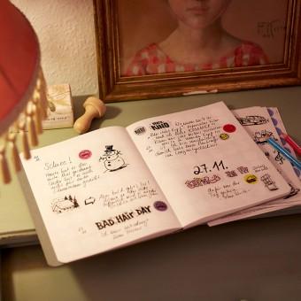 dot on diary / days  – Tagebuch