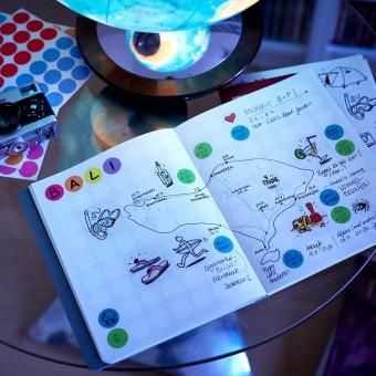 dot on diary / journey – Reisetagebuch