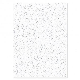 """Edith schmuckes Papier """"Dots blau"""" 2 Bögen Geschenkpapier 50x70 cm"""