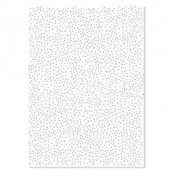 "Edith schmuckes Papier ""Dots schwarz"" 2 Bögen Geschenkpapier 50x70 cm"