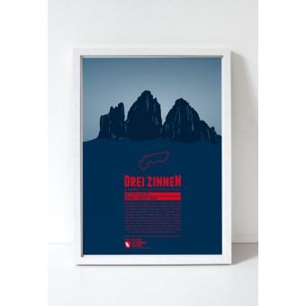 """Bergdruck """"Drei Zinnen"""" von Marmota Maps"""
