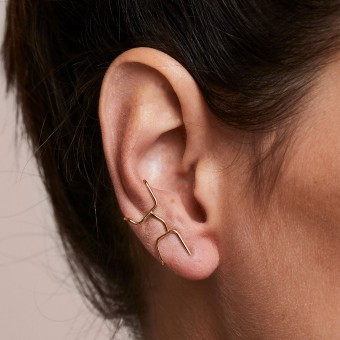 related by objects - flash earcuff - 925 Sterlingsilber 18k goldplattiert
