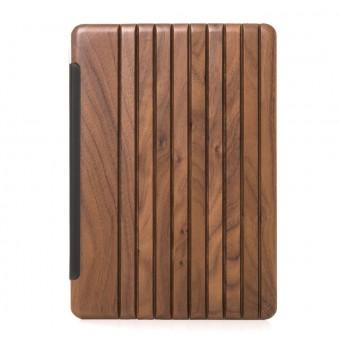 Woodcessories - EcoGuard iPad Case - Premium Design Cover, Hülle für das iPad aus echtem Holz (iPad Pro 10.5 (2017), Walnuss oder Kirsche, Hardcover transparent)