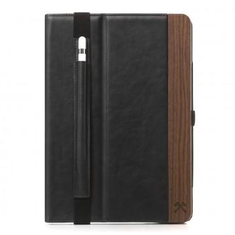 Woodcessories - EcoWallet iPad - Premium Design Case, Cover, Hülle für das iPad aus Walnuss Holz & veganem Leder m. Standfunktion (iPad Pro 10.5 (2017))