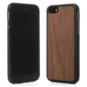 Woodcessories - EcoBump - Premium Design Hülle, Case, Cover, Schutzhülle für das iPhone aus FSC zertifiziertem Walnuss Holz (iPhone 5/ 5s/ SE)