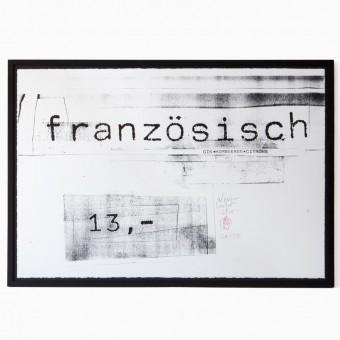 edition rikiki Siebdruck Erich Wellhöfer – Französisch
